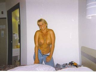 in the motel topless