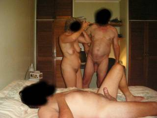 fun for you miss with two mzn and one with a big cock compare to the other and his small cock like mine but it must be so funny