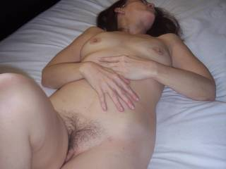 love your hairy pussy and nice tits and nipples and ofc. your cute face.