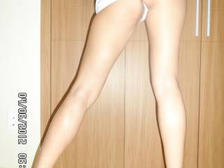 I know how you feel they are delicious and what's between them is a sexy cock teaser and pleaser.  I would love to run my cock or hands up and down them enjoying how hot they look and feel.  G