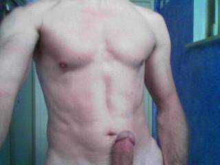 Loving those toned abs and hard cock....mmmmm! ;-)