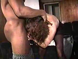 my wife on her knees sucking a black cock then has him eat her pussy (part 2 )