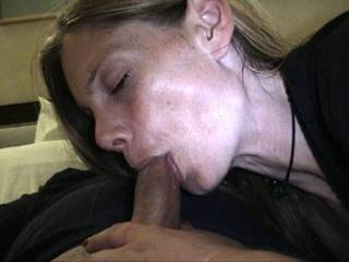 Petite blonde loves to suck and swallow loads of cum.