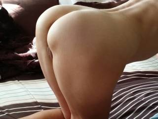 Wow, that's a very exciting view on your great looking ass and very inviting pussy! Let me spread your ass, grab firmly your sexy hips and uses the strength of my arms, shoulders and legs to hit your wet pussy deep and hard!