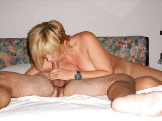 Wife in action