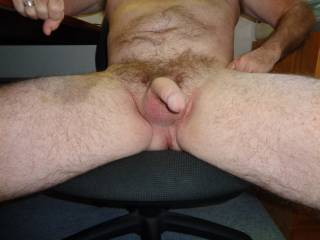 take 2: naked at home and a little soft: mountains of pubes on show & balls as well