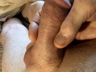 Woke up horny with a swollen cock.