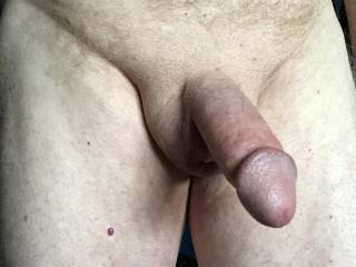 Erect penis ready, would love to be sucked.