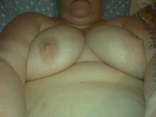 pigs fat saggy tits showing her nips
