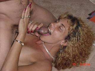 Why not....shes got your cock in her mouth...I'd be happy with that cock in my mouth too.  K