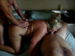 PART2 of Mrs Daytonohfun\'s 3 guy mini gangbang.  When she was done, she had fucked 3 men in 2 hours and taken 3 cum loads in her well fucked pussy.