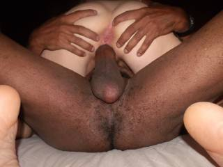 Driving My Massive Black Cock Deep Inside Her Tight White Pussy.
