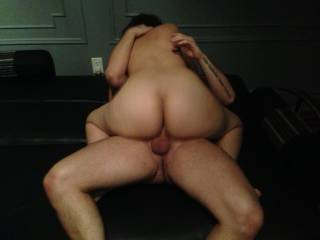 Lucky guy.  That's a perfect ass for fucking!