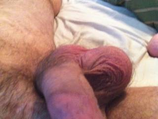Nice cock, balls and feet!! Let me lighten the load!!!