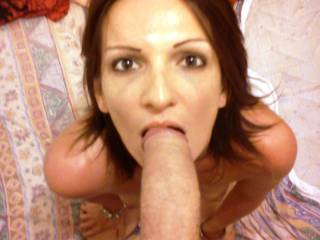 One minute blowjob swallow