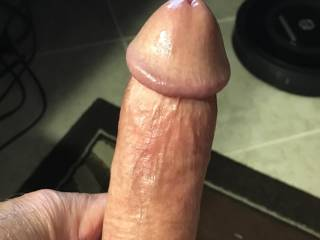 Getting my cock hard for you to play with...