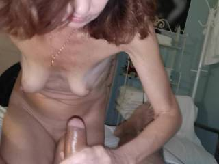 g f a dirty talking handjob makes you come