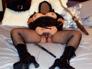 My witch wand felt good in my pussy, but nothing can take the place of a big, hard, throbbing cock!