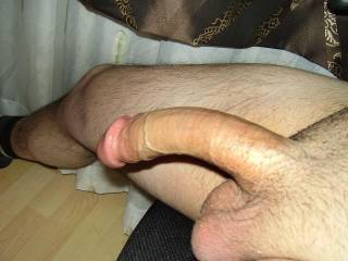 Fuck, that is a hot picture of your sexy cock.  Ummmm, I'd love to stick that cock in my mouth and suck you off.  K