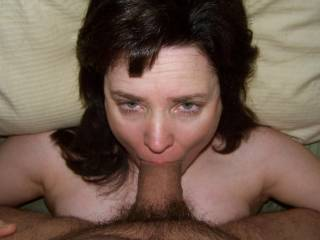Nothing like fucking your woman\'s face and pulling out at the last second and giving her a warm facial.