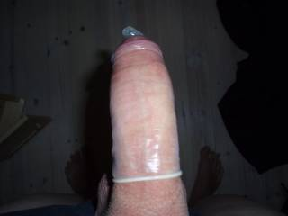 one of my boyfriends cock redy to have some anal sex with me. it was really  nice.  (=