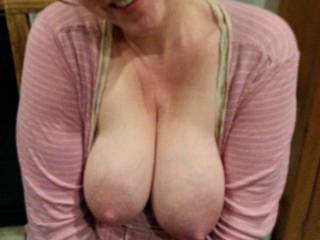 Love her big lactating breasts... and this was right after she pumped 5 ounces of milk out of each one!