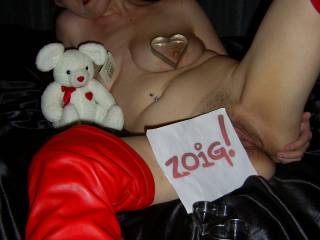 Here\'s a couple of my hubbies friends for you to feast your eyes on ... Pussy, big tits and teddy bear .. which would you choose to play with?