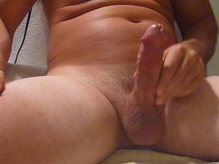 I was edging for two hours!I got my cock so worked up.I finished up watching a compilation of hot girls cumming hard.My cum starts really rolling like a river then explodes hands free.Would you like to suck it down ladies?