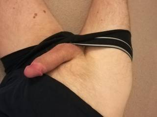 The pants had to be removed to let the bulge out