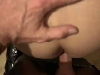 My husband fucked my ass in the kitchen while I wore my thigh boots! It's a shortened version but I orgasmed 3 times, I love my ass fucked!