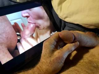 I love sucking cock in front of elliotthenry. It really turns me on and gets my pussy juices flowing when my men tribute me. These are truly the gifts Mrs. Shutterbug58 enjoys.