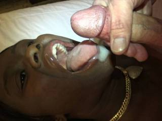 Jerking off into Amanda\'s mouth