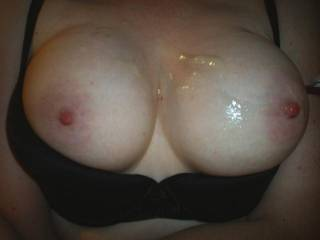 Would love to feel those beauties around my cock. Then cum all over them. Very nice