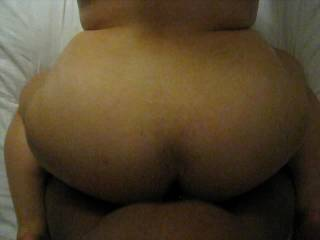 Love to see her big ass cheeks ripple as your pound her from behind! The sound of the strokes and her moans are really hot too... so is the hair pulling!