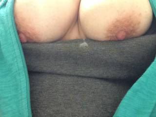 Exposing my beautiful tits for all of you to see!