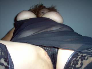 ...I'll slide over those sexy panties and give you a good licking eating your juicy pussy while looking up at the sultry hot view seeing, hearing, feeling and tasting your orgasm mmmmmmmmmmmmmmmmm then ...