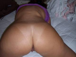 Amazing! I love your beautiful round ass and your tan lines just make it look even sexier. Mmmm I could just eat it up.