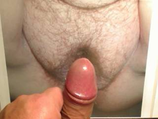 my cock and cum as tribute to the hot big pussy-mound of DanielleBBWet