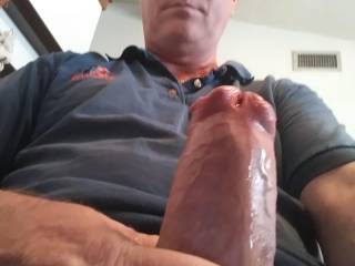 So horny and hard. Needs a good sucking or a good ride