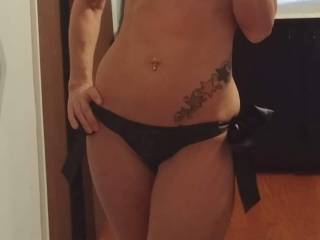 Photo time in her lingerie . . . sending photos to me at work telling me i should get home Soon!