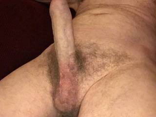 With such a solid erection my balls are exposed, would you like to start off by playing with them or even sucking them?