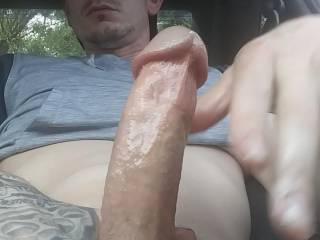 Hard dick in the car