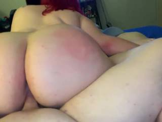 Wife brought her friend over to play with us, big ass riding me reverse cowgirl. God i loved that view