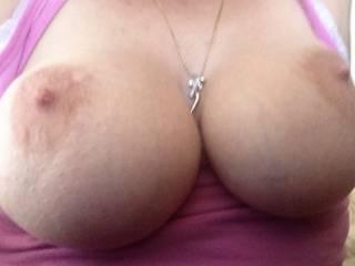 Huge wifey slut tits in your face