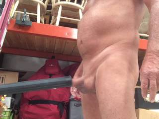 Playing with my vacuum cleaner. Cuming hands free. Such fun. Hope you enjoy.