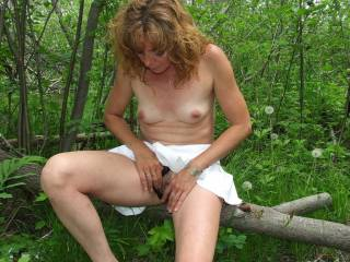 You are so sultry hot! Love it outdoors! Love to join you for some hottttt fun outdoors...feel your beautiful tits in my mouth while you play, then having to lick your wet pussy,mmmmmmm till you cum, and penetrate my big cock head deep inside and we both cum,mmm...
