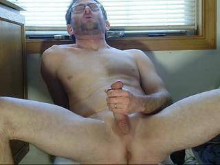 Loved watching u jack off 😊 would to see you squirt a load on me