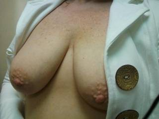 I love how hard your nipples get. Were you playing with them or are they normally hard? mmmmm The thought stimulates me.