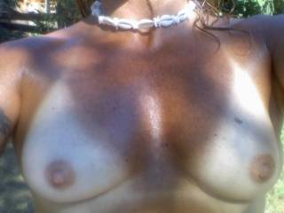 damn those are sexy tits i would love to suck on those while you ride my hard cock!