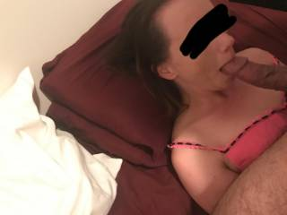 Same night. More dick sucking. Again, sorry for the blur but I\'m going to leave it there for now.